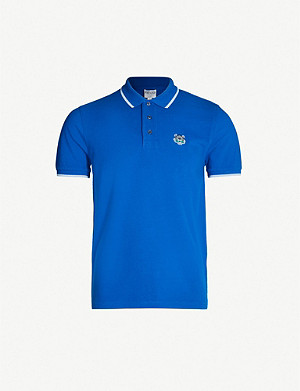 KENZO Tiger-appliqué cotton-piqué polo shirt