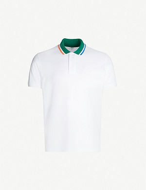 KENZO Colour-blocked cotton-pique polo shirt