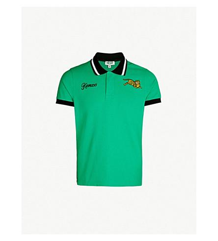6cacf013 KENZO - Jumping Tiger cotton-piqué polo shirt   Selfridges.com