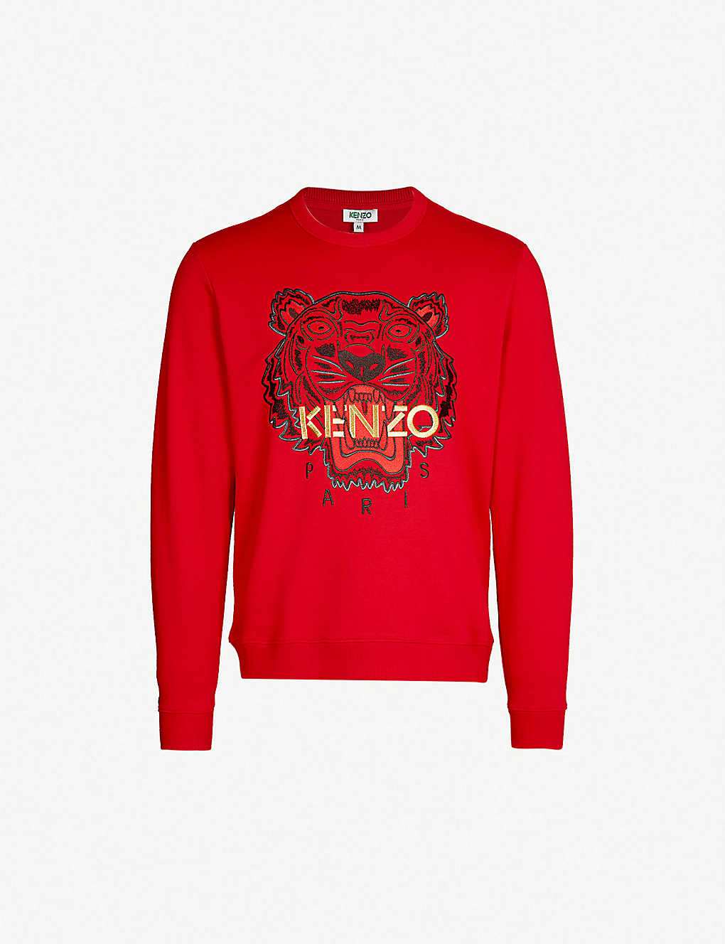 40aa72cd KENZO - Chinese New Year Tiger cotton-jersey sweatshirt | Selfridges.com