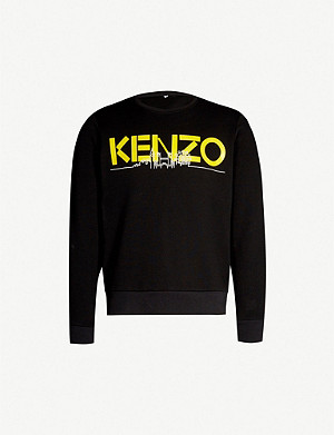 KENZO London skyline-print cotton-jersey sweatshirt
