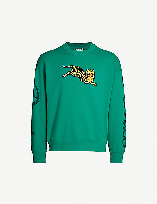 KENZO Jumping Tiger cotton-jersey sweatshirt