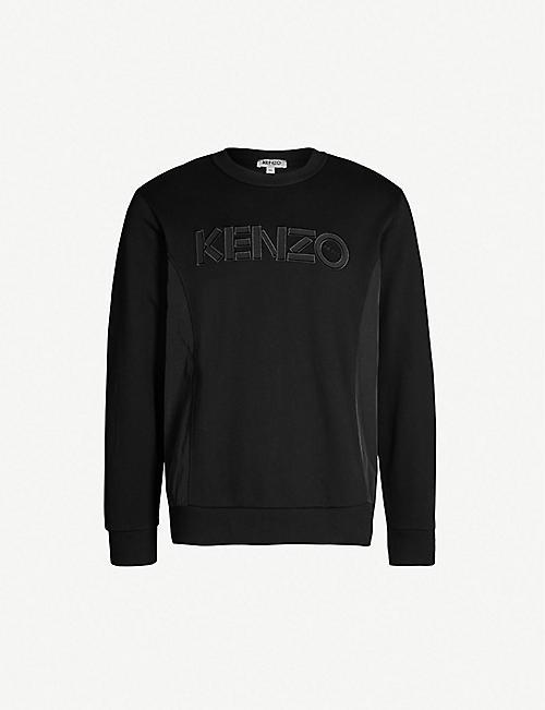deea70cc7d13 KENZO Logo-appliqué cotton-jersey and shell sweatshirt