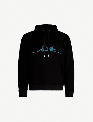 KENZO London skyline-print cotton-jersey hoody