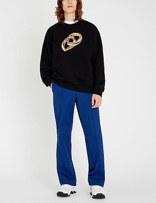 KENZO Ring-print cotton-blend sweatshirt