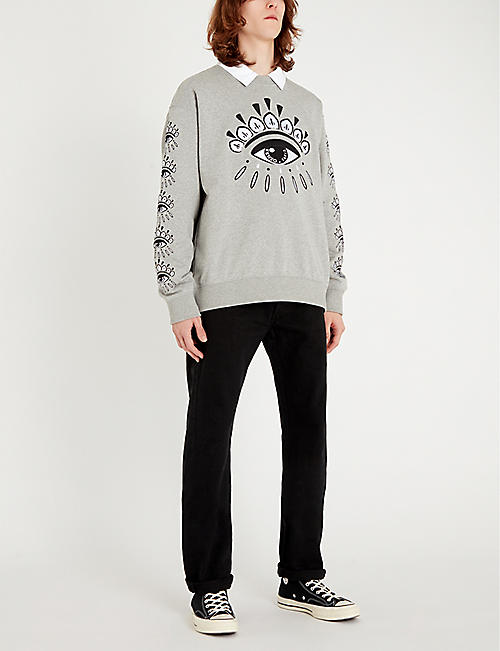 KENZO Graphic-print cotton-jersey sweatshirt