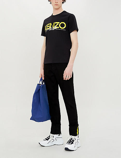 KENZO London skyline-print cotton-jersey T-shirt