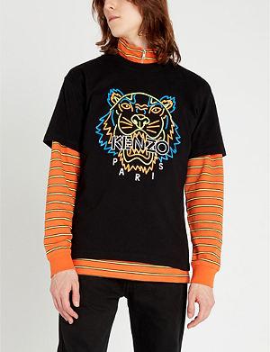9d348e62 KENZO - Tiger-print cotton-jersey t-shirt | Selfridges.com