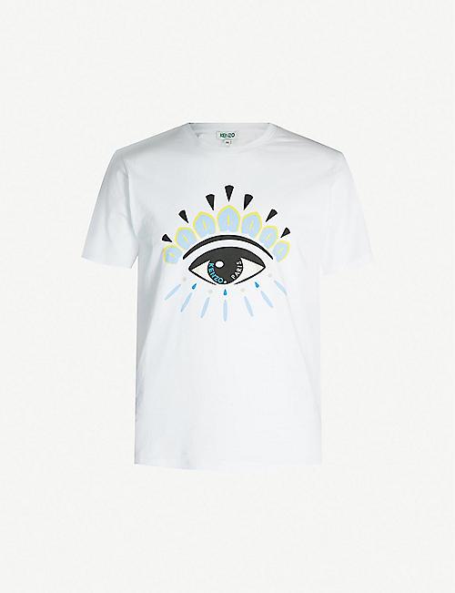 3a294a8088 KENZO Eye-print cotton-jersey T-shirt