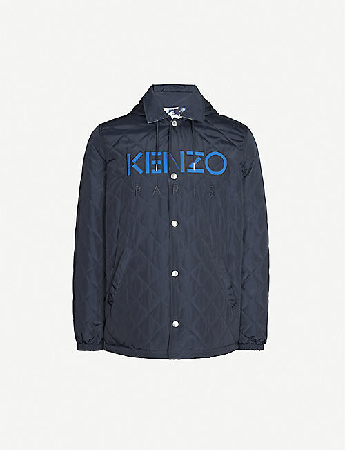 KENZO Reversible shell hooded jacket
