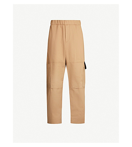 Kenzo Pants CROPPED REGULAR-FIT TAPERED STRETCH-COTTON TROUSERS