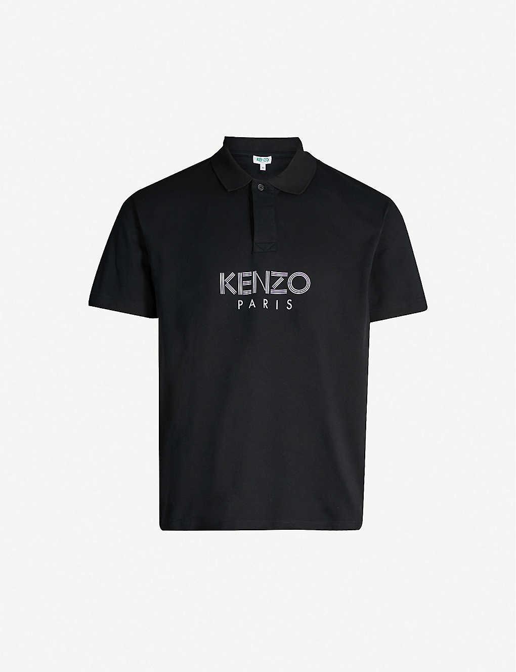 01408a72772 KENZO - Branded logo cotton-piqué polo shirt | Selfridges.com