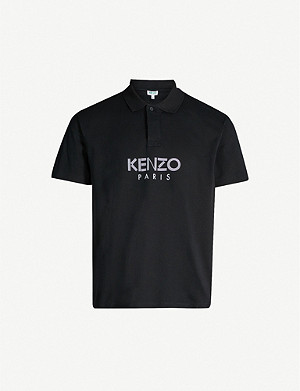 KENZO Branded logo cotton-piqué polo shirt
