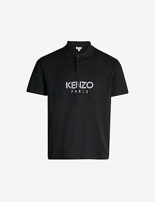 dbd81a97ff KENZO Branded logo cotton-piqué polo shirt