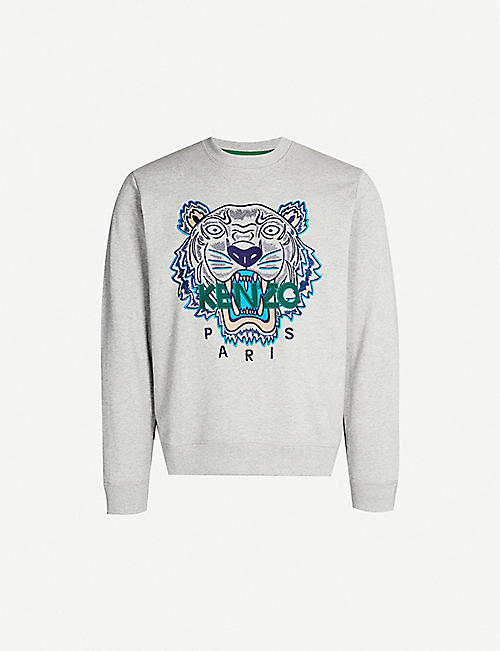 KENZO Logo-embroidered cotton-jersey sweatshirt