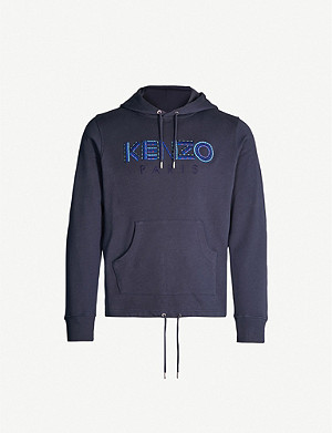 KENZO Molleton brand-embroidery stretch-cotton hoody