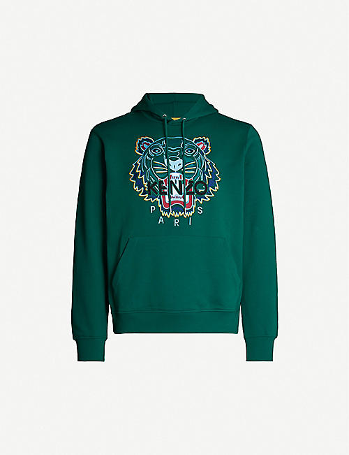 90059756 KENZO Tiger-embroidered cotton-jersey hoody
