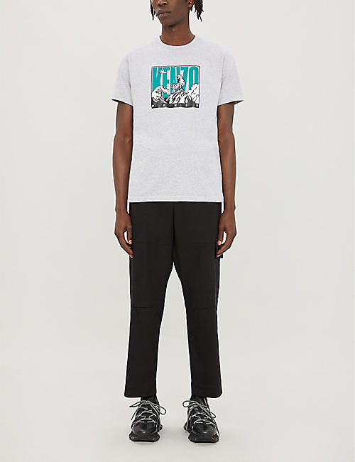 KENZO Graphic logo-print cotton-jersey T-shirt