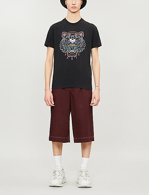 KENZO Tiger-motif cotton-jersey T-shirt