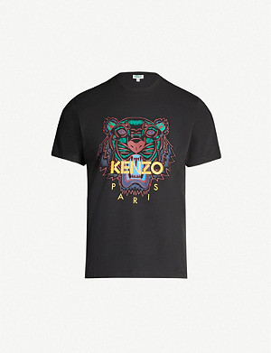 0da00526152d KENZO - Eye-print cotton-jersey T-shirt | Selfridges.com
