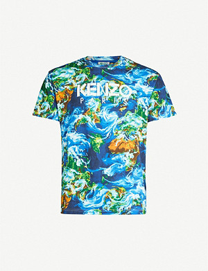 KENZO Graphic-print cotton-jersey T-shirt