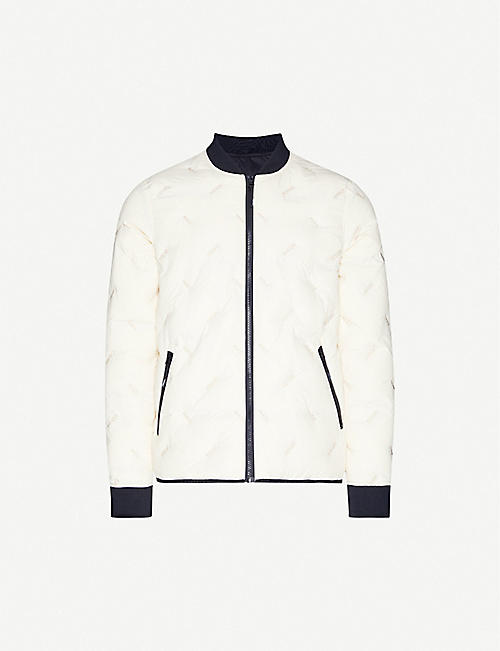 KENZO: Reversible shell-down jacket