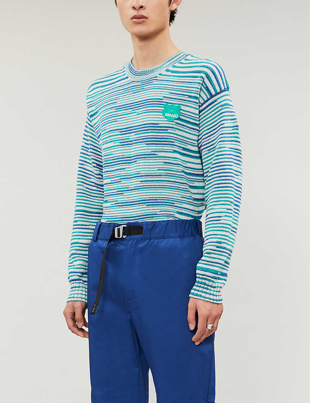 KENZO: Tiger patch cotton-knit jumper