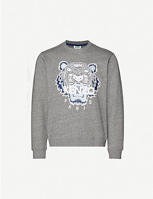 KENZO: Tiger relaxed-fit cotton-jersey sweatshirt