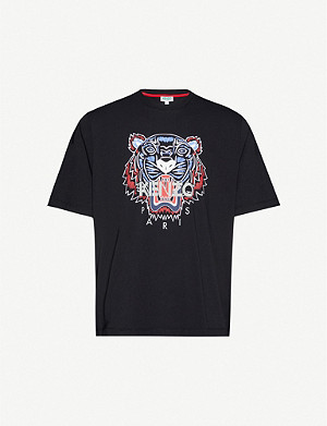 KENZO Tiger classic-fit cotton-jersey T-shirt