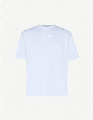 KENZO: Logo-embroidered cotton-blend T-shirt