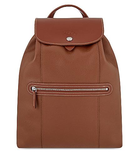 d4447d873a24 ... LONGCHAMP Le Foulonné leather backpack (Cognac. PreviousNext