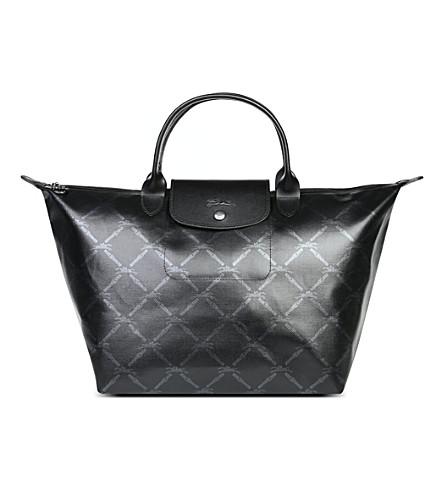 LONGCHAMP LM Metal medium handbag (Black fbcfa1cd467d1