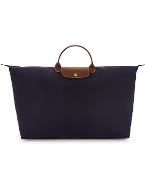 LONGCHAMP Le Pliage large travel bag in myrtille