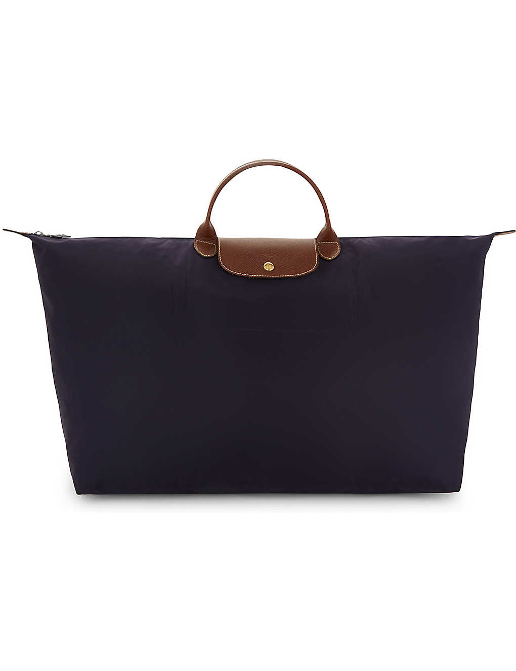 LONGCHAMP: Le Pliage large travel bag in myrtille