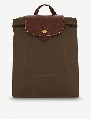 b3c07ff30322 LONGCHAMP - Le Foulonné leather backpack