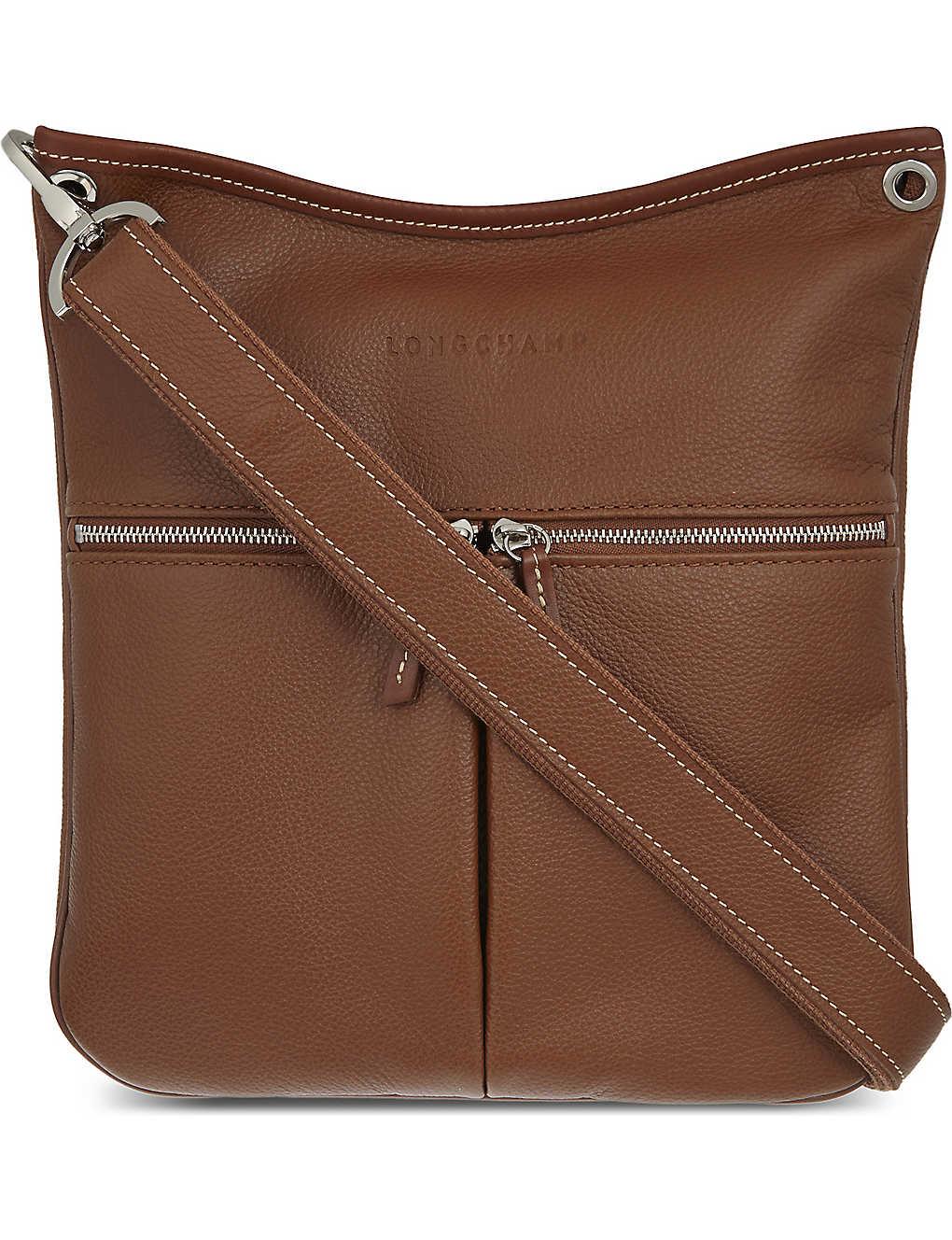 1540d5bd5b LONGCHAMP - Le Foulonné leather cross-body bag   Selfridges.com