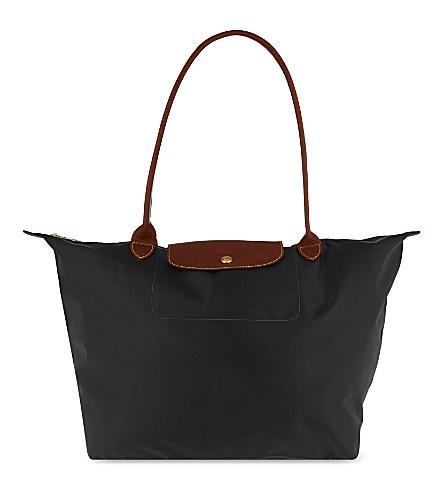 ... LONGCHAMP Le Pliage large tote bag (Gun+metal. PreviousNext 95b2c94e0dba5