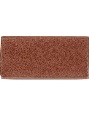 430595407e48 LONGCHAMP Le Foulonne long leather continental purse