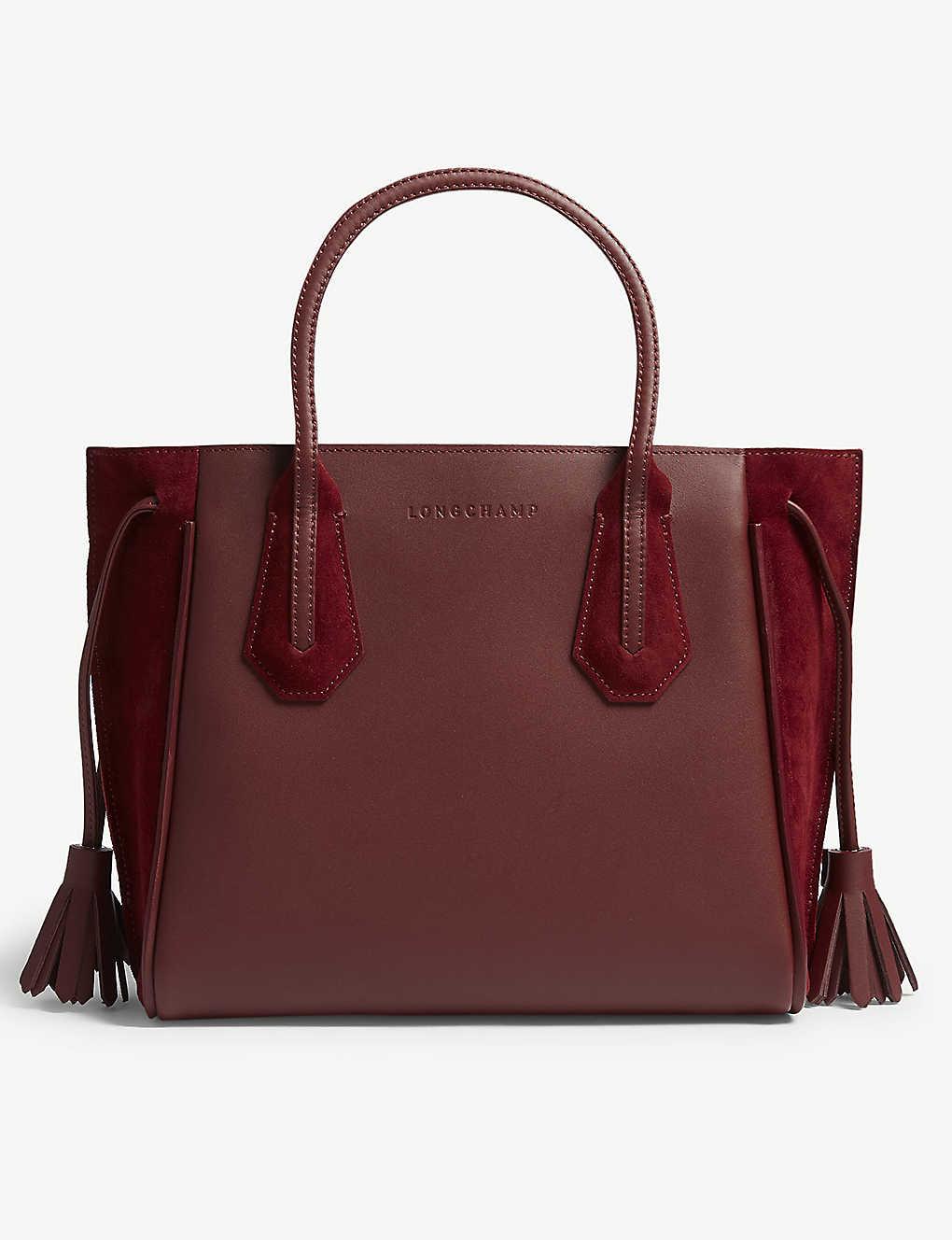 67ca82a6d4 LONGCHAMP - Pénélope soft leather and suede tote small   Selfridges.com