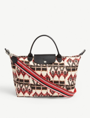 LONGCHAMP Le Pliage Ikat top handle bag