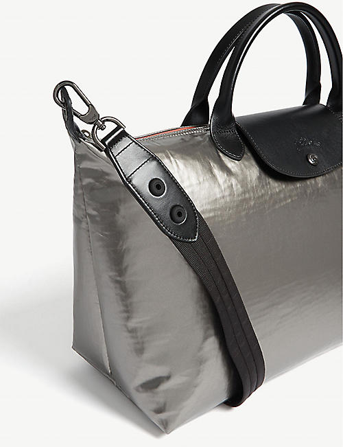 16273742df LONGCHAMP Astronaute metallic shoulder bag