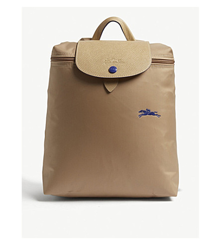 Shop Longchamp Le Pliage Club Backpack In Beige