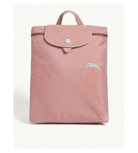 e08444cd7125 LONGCHAMP Le Pliage Club backpack (Antique+pink