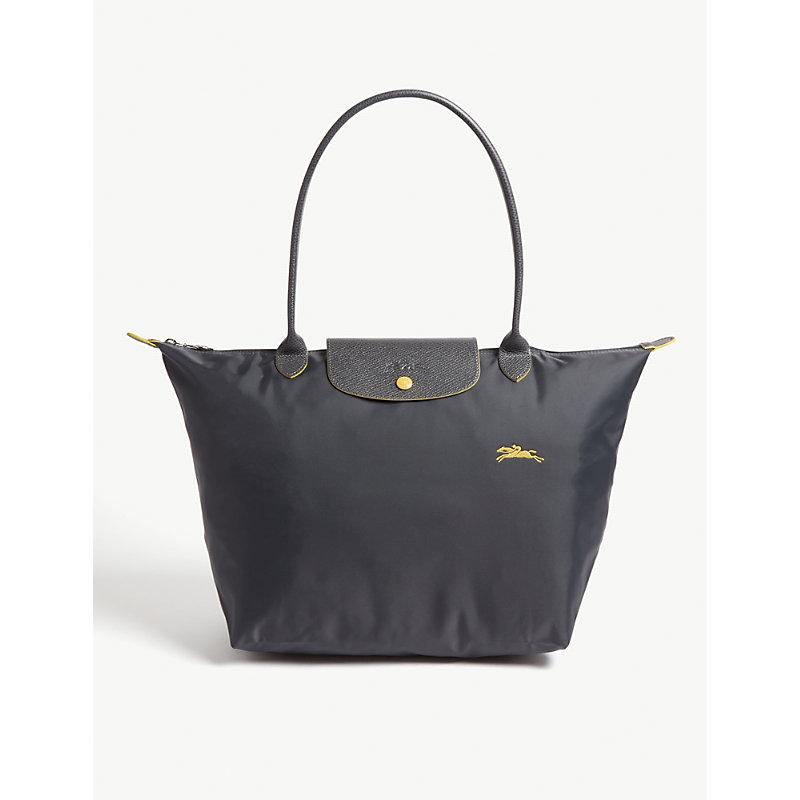 LONGCHAMP | Longchamp Silver Le Pliage Club Shoulder Bag, Size: Large | Goxip