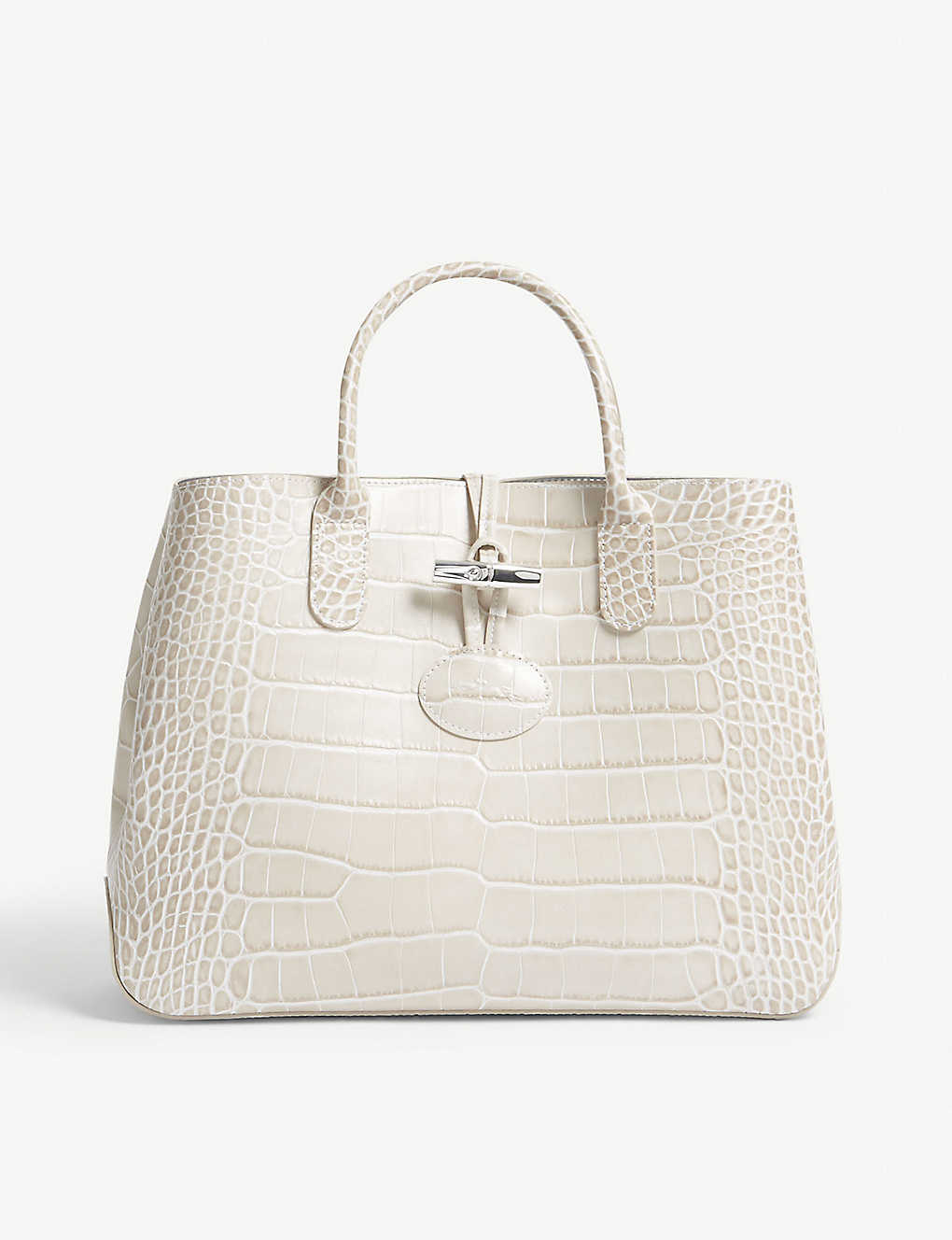 425b671588a LONGCHAMP - Roseau medium crocodile-embossed leather tote ...
