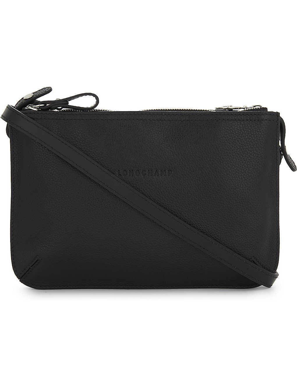 3c87df1032da07 LONGCHAMP - Le Foulonné leather cross-body bag | Selfridges.com