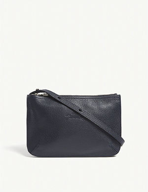 LONGCHAMP - Le Pliage Cuir leather cross-body bag  b6618565d3e17