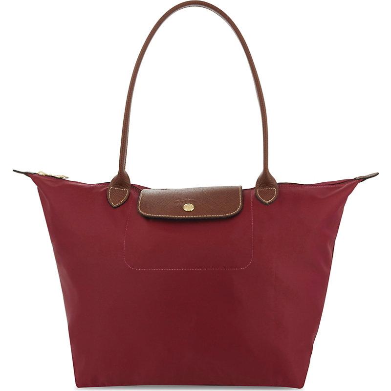 LONGCHAMP | Longchamp Red Le Pliage Tote Bag | Goxip