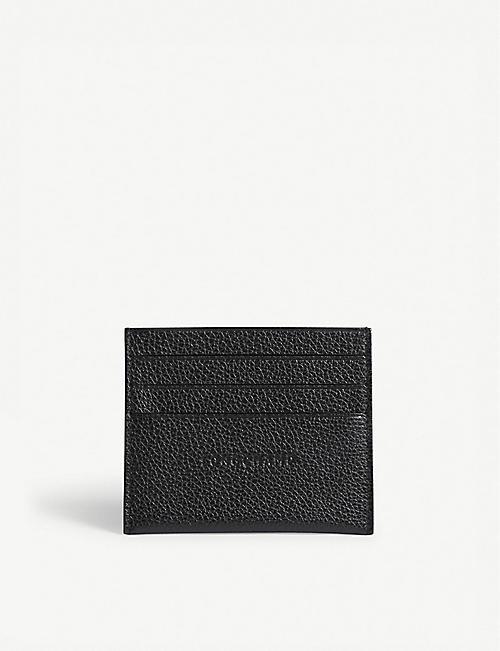 LONGCHAMP Foulonne grained leather card holder a3aae16d1b