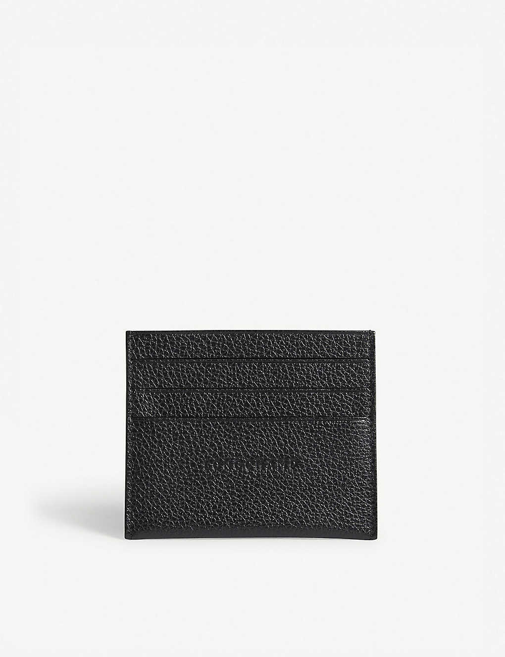 LONGCHAMP: Foulonne grained leather card holder